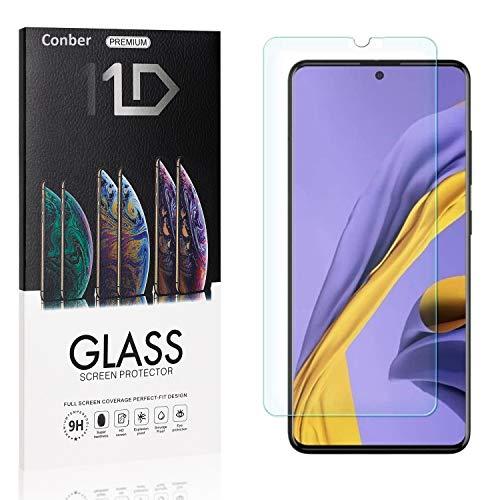 [4 Stück] Conber Panzerglas Schutzfolie für Samsung Galaxy A51, [9H Festigkeit][Anti-Kratzen][Anti-Öl][Anti-Bläschen] Panzerglasfolie Bildschirmschutz für Samsung Galaxy A51