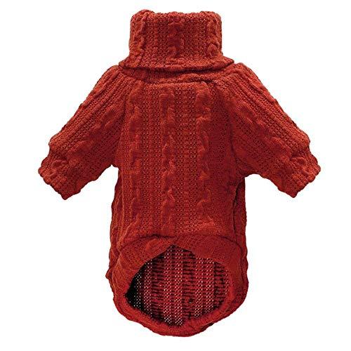 GOUSHENG-Kostuums Huisdieren Kleding Jurken Coltrui Hond Kleding Voor Kleine Honden Sweater Unisex Lente Huisdier Puppy Pyjama Zachte Huisdier Kitten Kat Knitwear 1B17, L, ORANJE