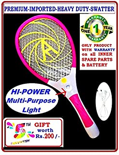 Akshara-Imported-Heavy-Duty Mosquito-Racket/SWATTER/Zapper/BAT (Powerful)