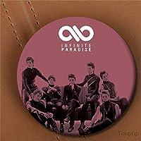 KPOP韓国INFINITEアルバムパラダイスメタル58mmラウンドバッジピンとブローチ衣服用帽子バックパック