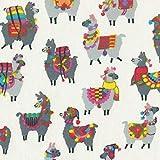Textiles français Stoff | Die farbenprächtigen Lamas