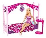 Barbie Glam Bedroom Furniture and Doll Set