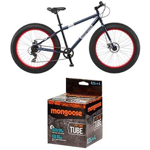 Mongoose Dolomite Fat Tire Bike 26 wheel size 18' frame Mountain Bicycle, Blue