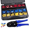 Wire Terminals Crimping Tool Kit, Preciva AWG22-10 Insulated Ratcheting Terminals Crimper Tool Kit with 700PCS -27 Types of Insulated Butt Bullet Spade Fork Ring Crimp Terminals Connectors