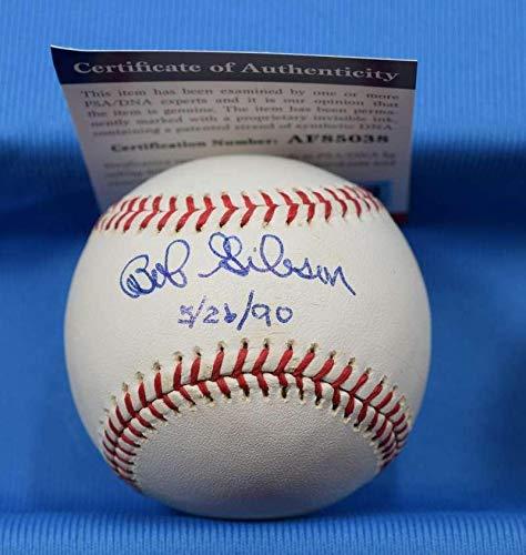 Bob Gibson Coa Autograph Hand Signed Baseball Cardinals - PSA/DNA Certified - Baseball Slabbed Autographed Cards Bob Gibson Autographed Baseball