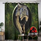 Elliot Dorothy Jurassic Park Dinosaurs Movie Poster Washable Curtains Curtains for Living Room Waterproof Window Curtain for Bedroom Living Room Kitchen W42 x L54