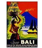 JCYMC Leinwand Bild Siehe Bali Indonesien Vintage Reise