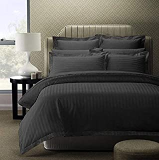 AEROHAVEN™ Linen 100% Cotton 210 Tc Queen Bed Size Bedsheet with 2 Pillow Covers - (Queen Bed (90 inch x 100 inch), Grey)