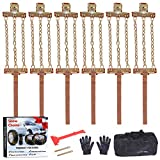 EASE2U E Snow Chains, Tire Chains for Suvs, Cars, Sedan, Family Automobiles,Heavy Trucks with Update Adjustable Lock for Ice, Snow,Mud,Sand,Applicable Tire Width 226-315mm/8.9-12.4in(6 Pack)