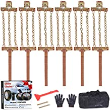 EASE2U E Snow Chains, Tire Chains for Suvs, Cars, Sedan, Family Automobiles,Heavy Trucks with Update Adjustable Lock for Ice, Snow,Mud,Sand,Applicable Tire Width 6.5-8.5in/165-216 mm (6PCS)