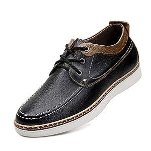 [ziitop] シークレットシューズ 本革 カジュアルシューズ メンズ 軽量 レースアップシューズ 靴 インヒール 6cmUP シークレット 紳士靴