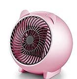 Mini Calentador de Patio, Calentador eléctrico de ventilador, con sobrecalentamiento y la punta de protección en la Tabla calentador PTC calentador de cerámica Calentador portátil de oficina,Rosado