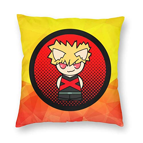 TIERA BENDER Bakugou-Cat Cushion Cover Throw Pillow Cover Durable Pillow Case Square Home Decoration Gift 12'' X12