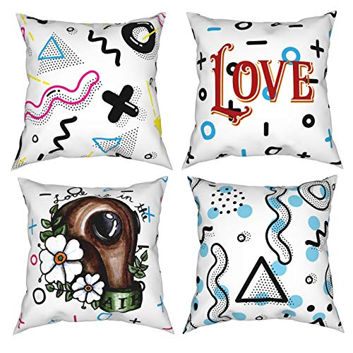 Chenping 12'X12' Square Pillowcase Pack of 4 Love is in The...