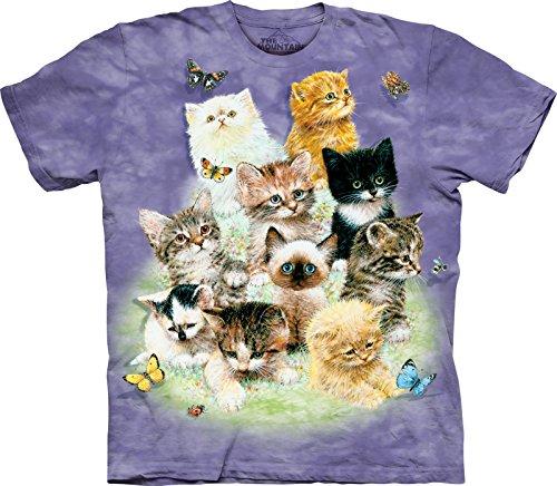 The Mountain Kids Ten Kittens T-Shirt, Large, Purple