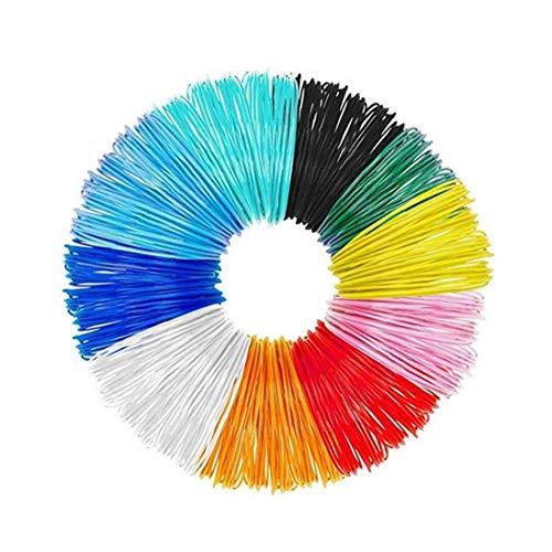 LAANCOO 3D Stift Faden 10 Packungen 1.75mm 3D-Druck PLA Filament mit 16 Fuß 3D-Farbdrucker gefüllt Filaments