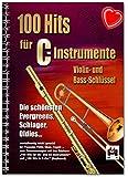 Lot de 100 embouts pour instruments C – plus belles évergreens, serpents et Oldies, faciles à mettre en place pour posauna, flûte, oboe ou fagott – Songbook avec pince à partitions