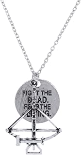 LUREME Vintage Silver Inspired Zombie Apocalypse Design Charm Necklace (nl005573)