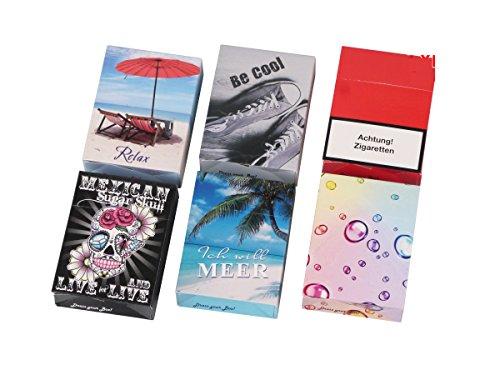 24 x Zigarettenetui Zigarettenbox Zigarettenschachtel Überzieher Hülle Etui Pappschuber für Gr. XL (23/24 Stück)