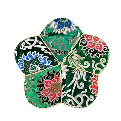 Goddness Bar Tapis de Plateau de thé en Tissu décoratif Coaster Retro Pad Tapis (Style 19)