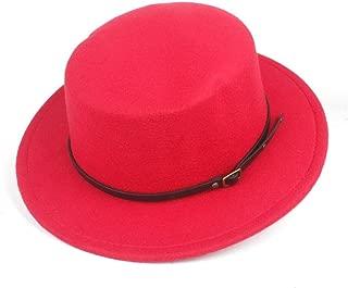 Hat Size 56-58CM Men Women Flat Top Fedora Hat Winter Casual Hat Wool Trilby Hat Wide Brim Church Hat Fashion Hat