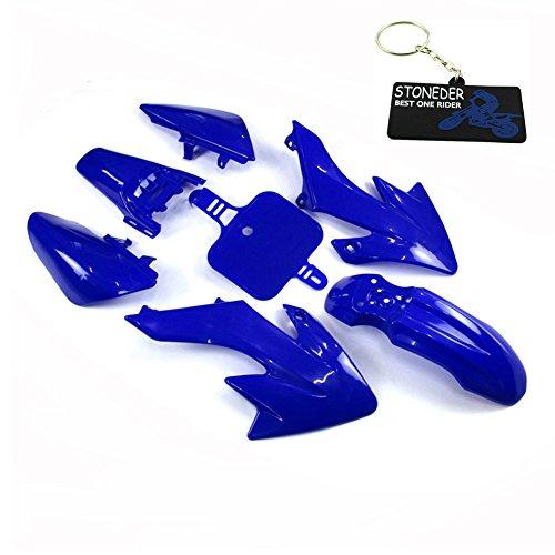 Kits de cubiertas de carenado de plástico azul Stoneder para Honda