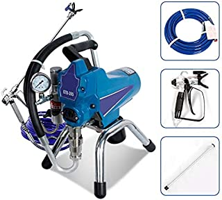 Hanchen Airless Electric Paint Spraying Machine High Pressure Paint Sprayer 2.5L/min H-395 for Latex Paint/Bleaching Paint/Anti-Rust Paint/Anti-Corrosion Paint (110v 60Hz American Plug)
