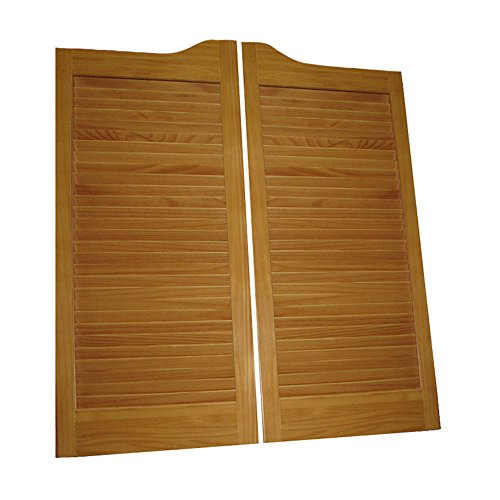 Pre-Stained (Ready to Install) Cafe Doors Louvered pre-fit for 32