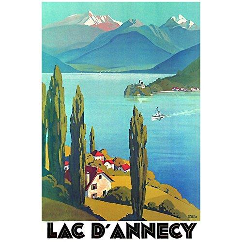 Editions Clouet 50086 - Affiche Touristique 50x70 cm PLM - Vue sur Le Lac dAnnecy