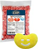 Jelly Belly Unbearably HOT Cinnamon Gummy Bears Bulk Candy 1 Pound By The Cup Pack with Jelly Belly Mini Emoji Plush