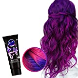 Wangjiahua Thermochromic Color Changing Wonder Dye, Hair Cream Punk Hair Dye Light, Color Changing Hair Dye Heat Activated, Temporary Hair Dye, Semi Permanent Paint for Girl Hair Styling (Purple)