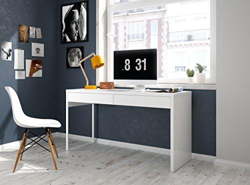 Habitdesign - Mesa Escritorio, Mesa de Ordenador Modelo Touch, Medidas: 138 cm (Largo) x 50 cm (Anch