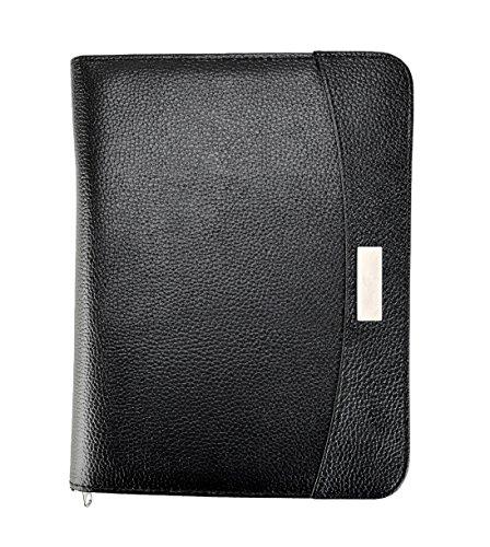 Arpan Business-Tagungsmappe in DIN A5-Größe, Konferenzmappe mit Taschenrechner und Notizblock, schwarz