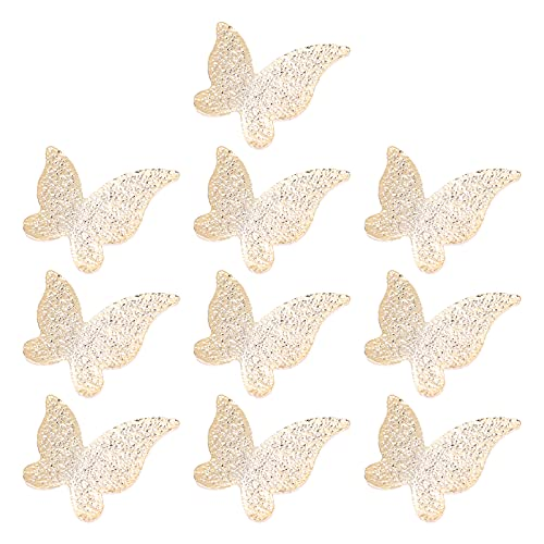 BESPORTBLE 10 Piezas de Rellenos de Resina Mariposa Mariposas DIY Encanto Animal Relleno Dorado Colgante de Aleación Accesorios para Hacer Joyas Pendientes Llaveros Artesanales
