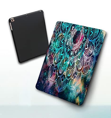 Funda para iPad 9,7 Pulgadas, 2018/2017 Modelo, 6ª / 5ª generación,Geométrico Antiguo Abstracto con Campo de Estrellas y diseño gráfico Colorido de la Smart Leather Stand Cover with Auto Wake/Sleep