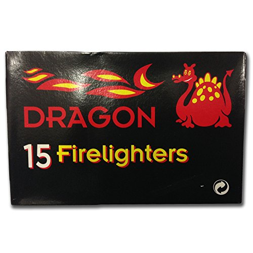 Dragon Fire Lighter Starter Blocks - Outdoor BBQ Wood Burner | Pack of 15