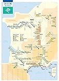 Affiche/Poster Plan de métro Carte des vins de France Fine Art 50 x 70 cm