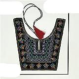 Collar de encaje de alta calidad bordado DIY estilo étnico escote de encaje ropa decorativa accesorios de escote calcomanías-1 Uds
