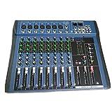 CT8 8 canaux Mixeur stéréo Professionnel Live USB Studio Audio Console Audio Processeur d'Effet Vocal pour Dispositif d'ancrage réseau - Noir