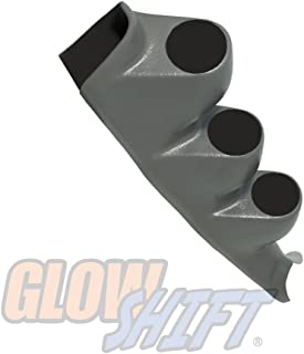 GlowShift Gray Triple Pillar Gauge Pod for 2000-2006 Chevrolet Chevy Silverado 1500 2500HD 3500HD Duramax - Factory Color Matched - ABS Plastic - Mounts (3) 2-1/16