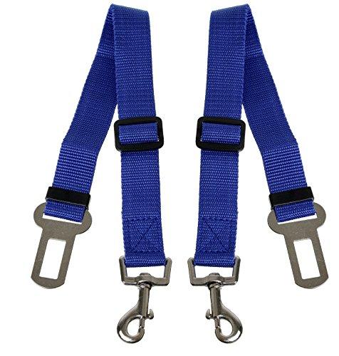 Scarlet pet   auto-hondenriem »Secure III« 2 x veiligheidsgordel voor het vastmaken van honden in de auto; elastische demper/rugabsorber; instelbare lengte; met karabijnhaak, blauw