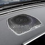 MKptopia 1 Pieza Accesorios para Coche, molduras Interiores salpicadero de Coche Cubierta de Altavoz de Audio Acero Inoxidable para Mercedes Benz W205 C180 C200 GLC C260-negro