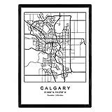 Nacnic Drucken Stadtplan Calgary skandinavischen Stil in