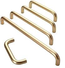 Subobo deurgreep, moderne minimalistische gouden kabinet deur handvat minimalistische lade koper kast kast handvat Pack va...