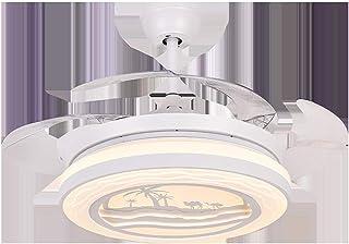 AIZPX Ventilador de techo interior luces de techo lámpara de personalidad invisible para el hogar Invisible moderno minimalista eléctrico plafón-Tipo C