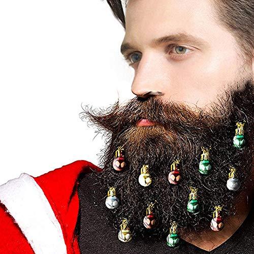 12 STÜCKE Bunten Bart Ornamente Gesichtsbehaarung FlitterHair Flitter für Männer Runde Birne Clips 2 CM (Farbe Zufällig