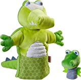 HABA 305754 - Títere de Mano de cocodrilo con bebé, a Partir de 1,5 años