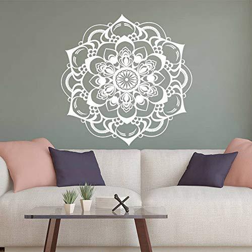 Calcomanías de pared bohemias para sala de estar, pegatina de pared con mandala, decoración para estudio de yoga, calcomanía para dormitorio, decoración de habitación, A1 42x42cm