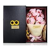 MICOE ソープフラワー 枯れない花 花束 誕生日 記念日 母の日 プレゼント お祝い花 11本 ピンク MC-067 (ピンク)