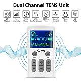 OSITO Tens EMS Electroestimulador Tens - Electroestimulador Digital con 25 Modos&10 Electrodos, Electroestimulador Muscular para Aliviar el Dolor, Masajes, Estimulación Muscular y Electrodos para Tens